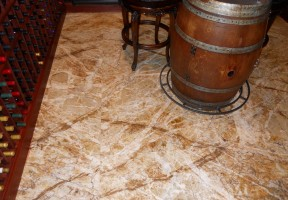 wine cellar slab floor