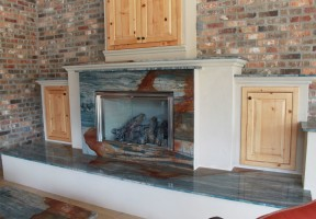 yasmine blue 2cm fireplace