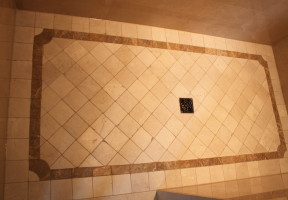 Custom Shower Floor - Zumbek