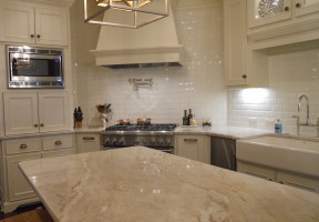 Mother of Pearl Marble Kitchen