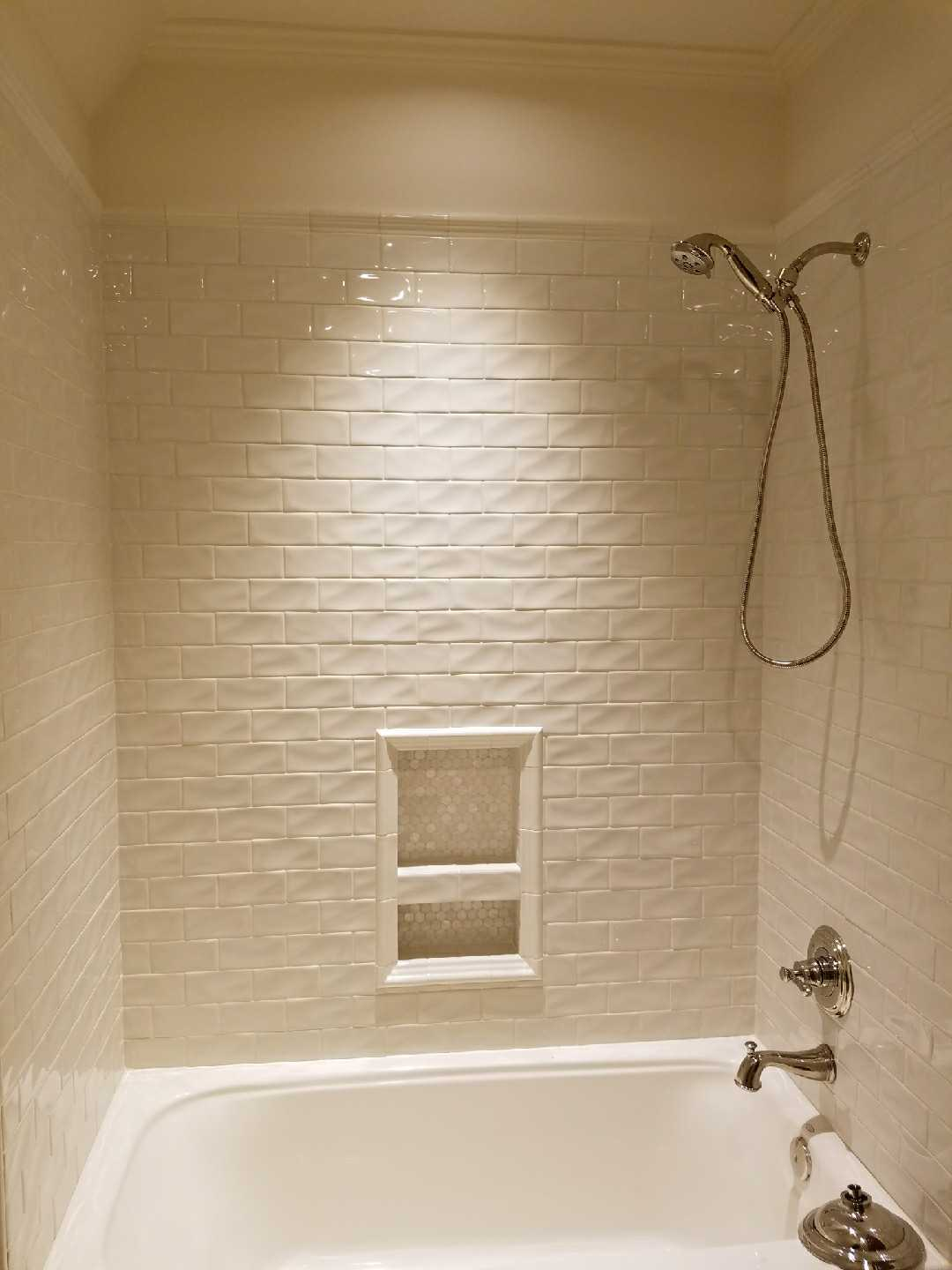 Hand crafted tile bath
