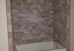 Tumbled Travertine Shower