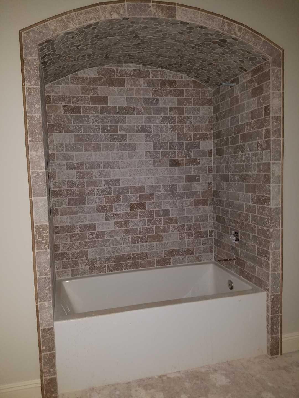 Tumbleweed Travertine Shower